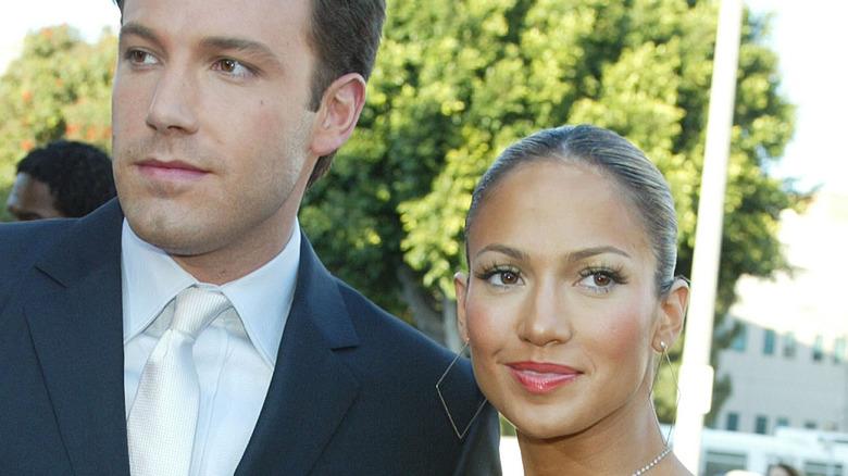 Jennifer Lopez og og Ben Affleck smilende