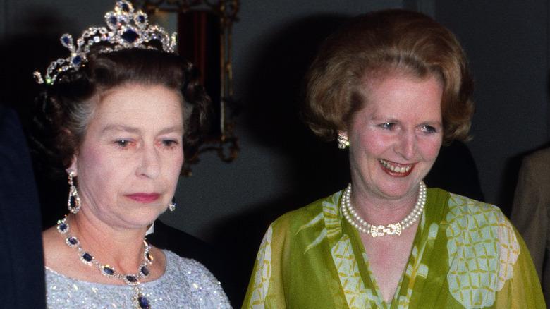 Dronning Elizabeth og Margaret Thatcher