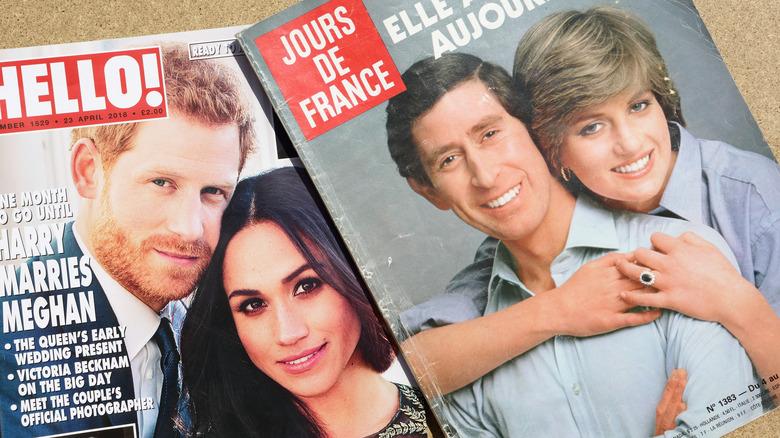Prins Harry, Meghan Markle, prins Charles, prinsesse Diana, alt i magasiner