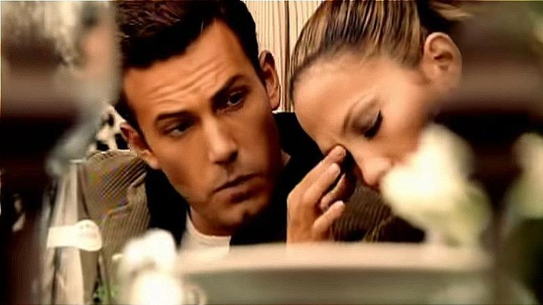 Jennifer Lopez og Ben Affleck i musikkvideoen 'Jenny From The Block'