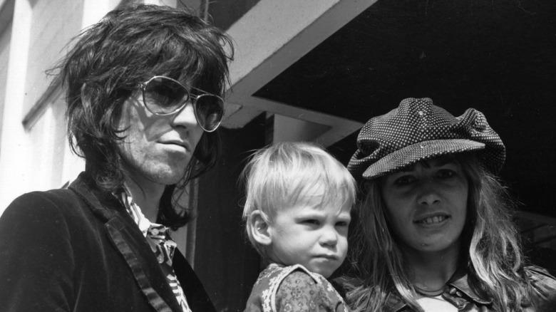 Keith Richards, kone og sønn Marlon Richards, konsert