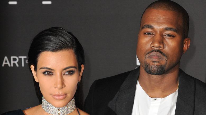 Kim Kardashian og Kanye West på LACMA Art + Film Gala i 2014