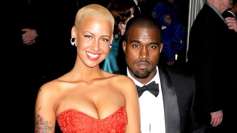 Amber Rose og Kanye West på Met Gala 2009