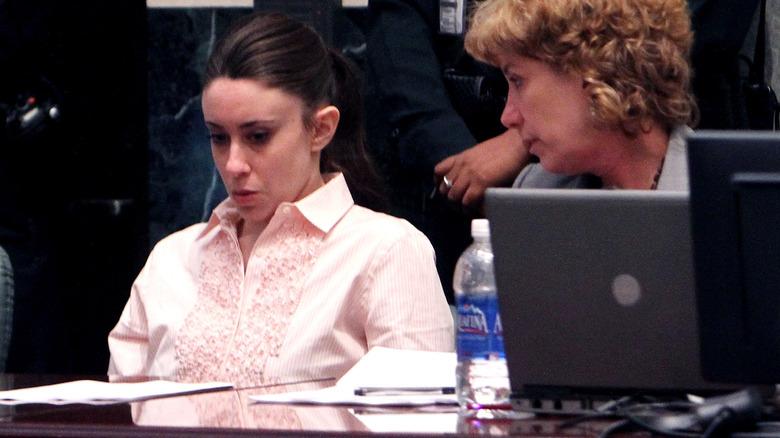 Casey Anthony ser sint ut på rettssaken