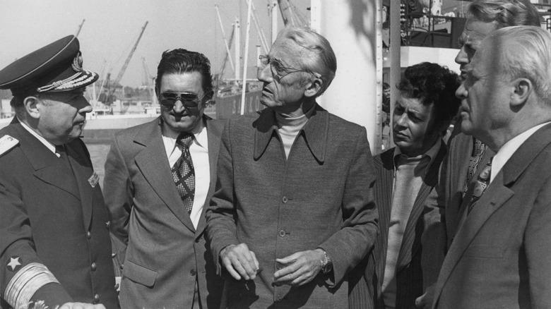Jacques Cousteau ombord på Calypso