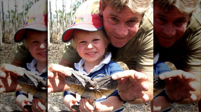 Steve Irwin og Robert Irwin sammen