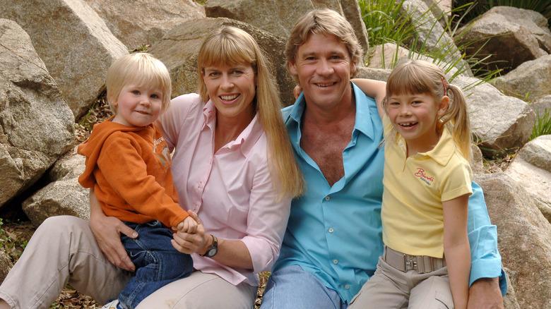 Steve Irwin med familien