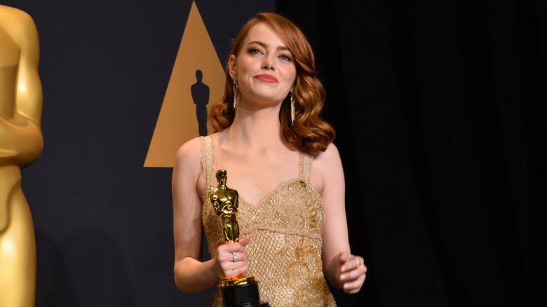 Emma Stone holder Oscar