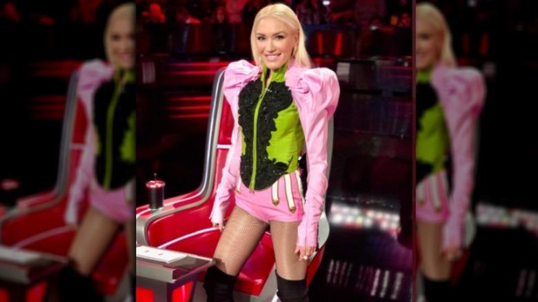 Gwen Stefani i rosa bodysuit