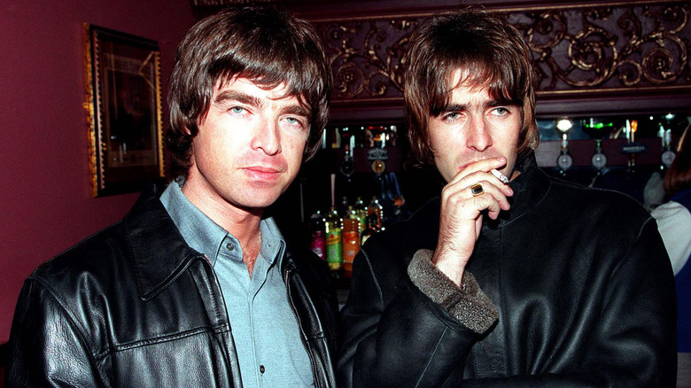 Liam og Noel Gallagher i skinn