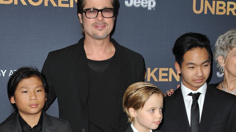 Brad Pitt og Pax, Shiloh og Maddox