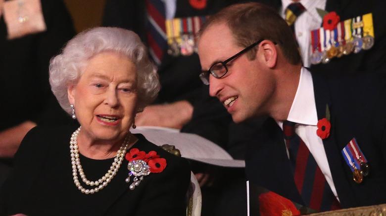 Dronning Elizabeth og prins William