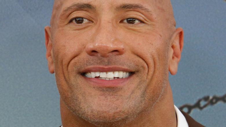 Dwayne Johnson smiler