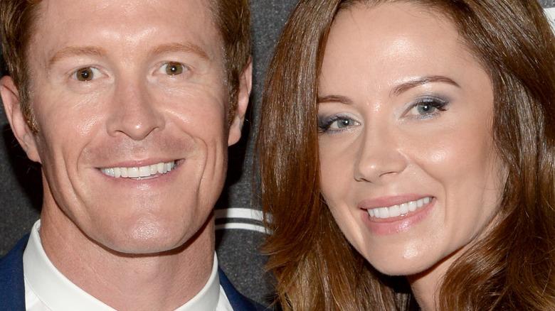 Scott Dixon og Emma Davies smiler