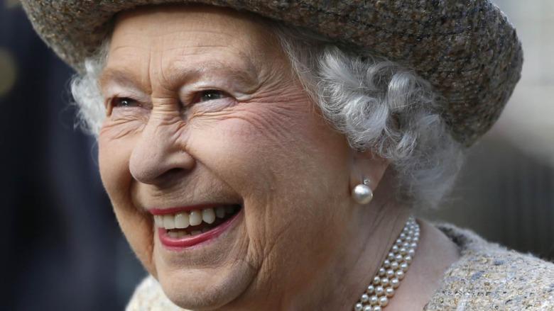 Dronning Elizabeth II smilende