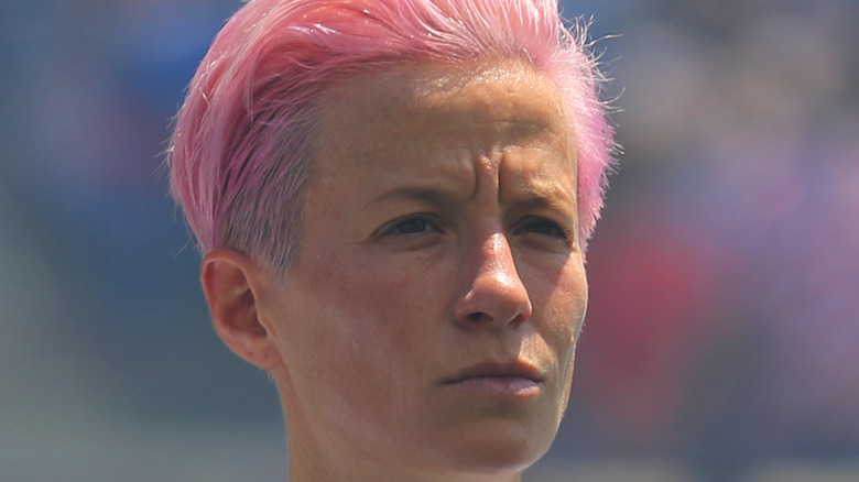 Megan Rapinoe rosa hår