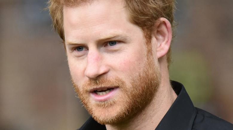 Prins Harry munnen åpen