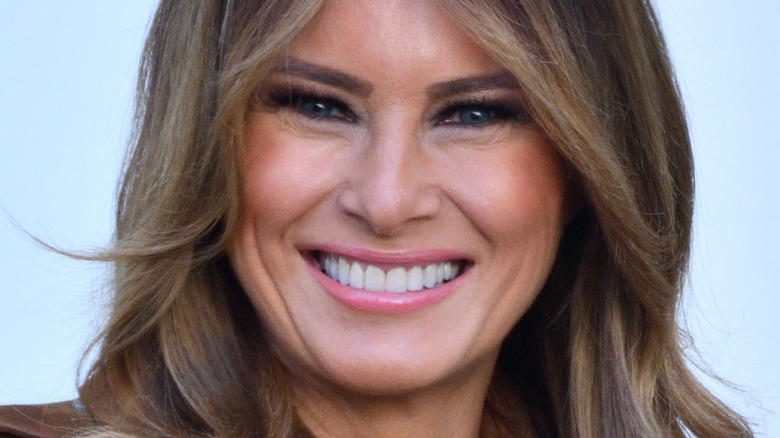 Melania Trump med bredt smil