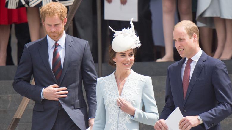 Prins Harry, Kate Middleton og prins William