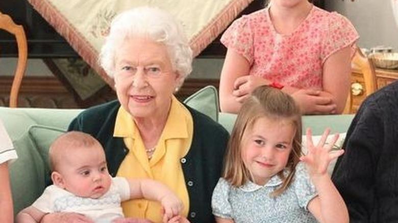 Dronning Elizabeth Charlotte familiebilde