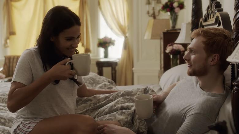 Sydney Morton og Jordan Dean filmer Harry & Meghan: Escaping the Palace