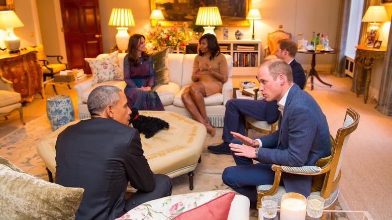 Obamas og hertug og hertuginne av Cambridge, Kensington Palace, 2016