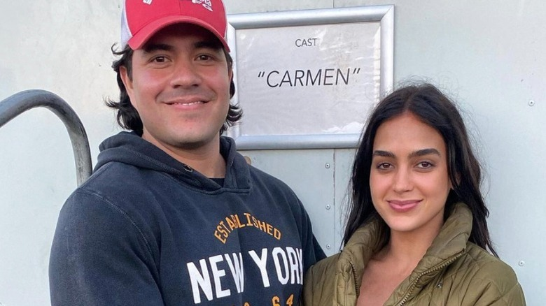 Xavier Zazueta, Melissa Barrera, poserer