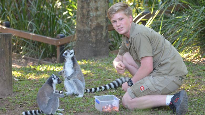 Robert Irwin med dyr i dyrehagen