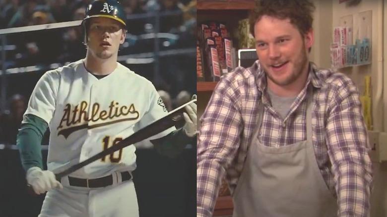 Chris Pratt som Andy Dwyer, og i Moneyball