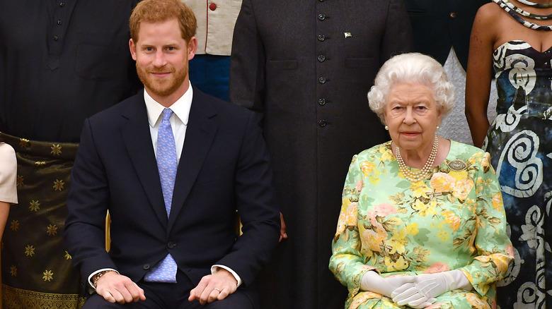 Prins Harry og dronning Elizabeth