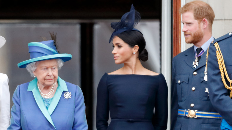 Dronning Elizabeth Meghan prins Harry