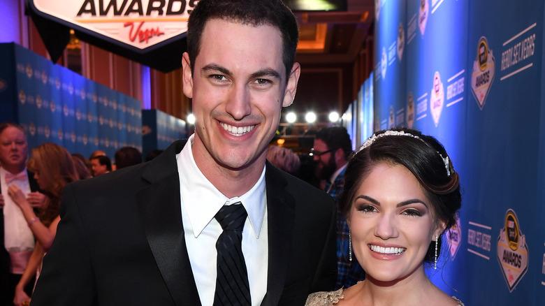 Joey Logano og Brittany Baca på NASCAR Awards