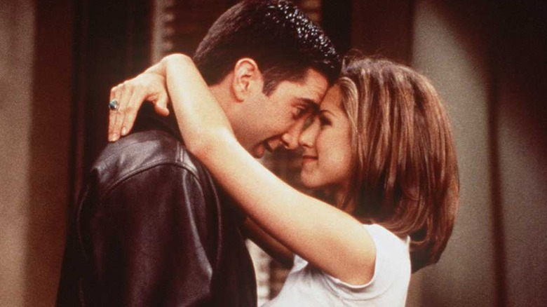 David Schwimmer og Jennifer Aniston på Friends