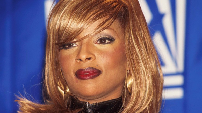 R&B-sangeren Mary J. Blige deltar på Billboard Music Awards 1995