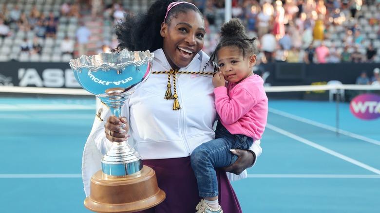Serena Williams og datteren Alexis Olympia Ohanian