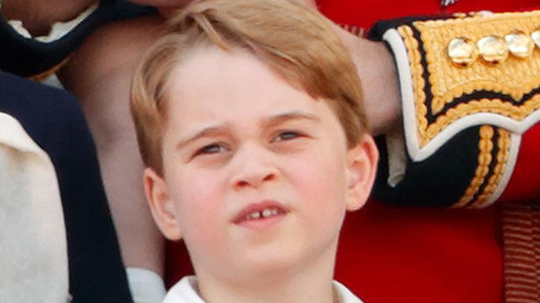 Prins George med den kongelige familien