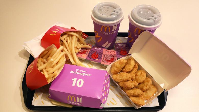 BTS spesialutgave McDonalds Meal