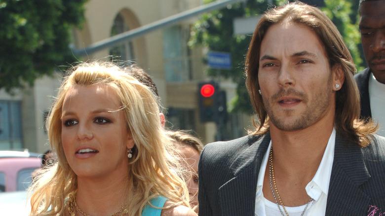 Britney Spears og Kevin Federline på filmpremieren da de fremdeles var gift 2005