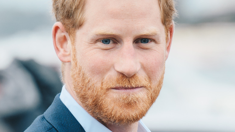 Prins Harry smilte