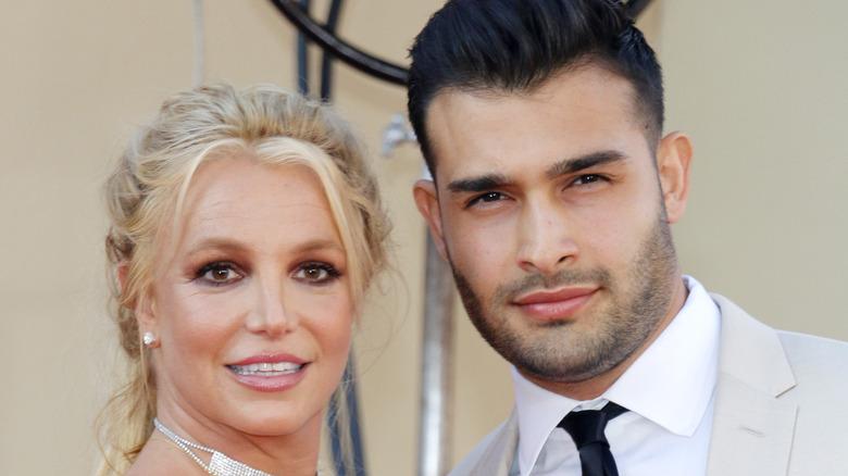 Britney Spears og Sam Asghari røde løperen