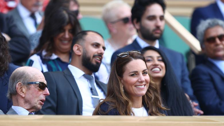 Kate Middleton deltar på Wimbledon tenniskamp