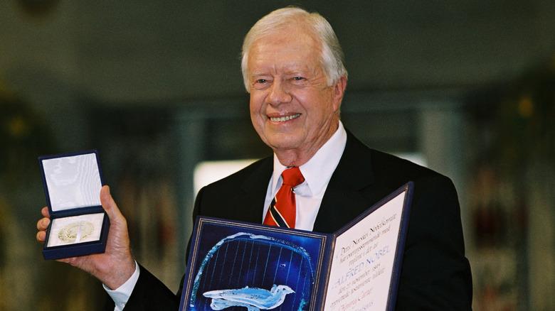 Jimmy Carter med Nobelprisen