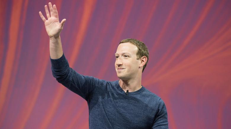 Facebook-sjef Mark Zuckerberg i pressekonferanse på VIVA Technology (Vivatech) 2018