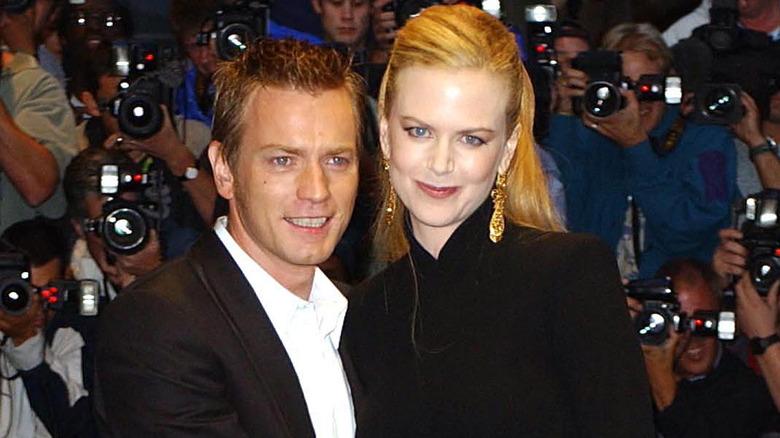 Ewan McGregor og Nicole Kidman på premieren i London av Moulin Rouge