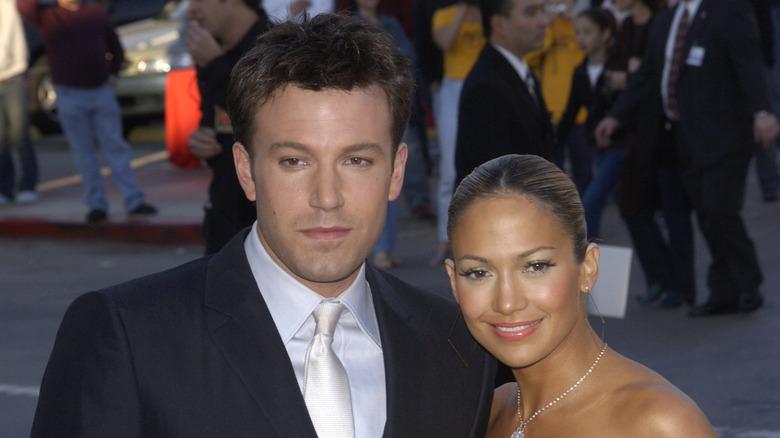 Ben Affleck og Jennifer Lopez på den røde løperen