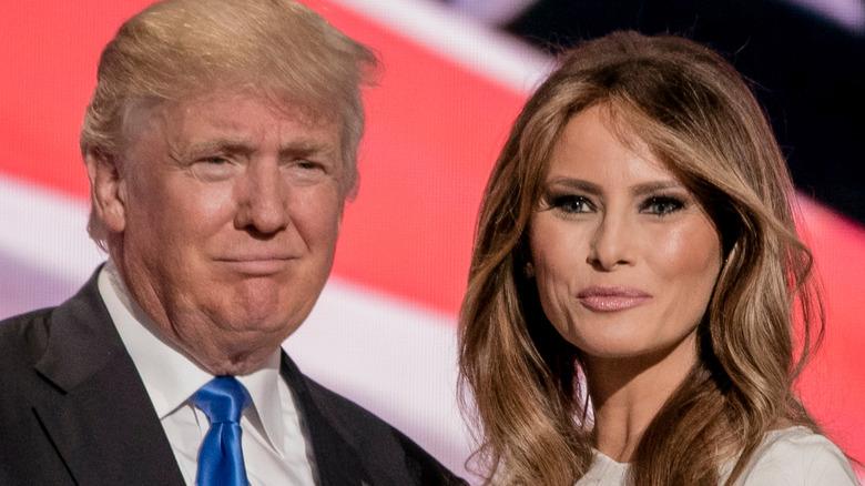 Donald Trump og Melania Trump på presidentkonvensjonen