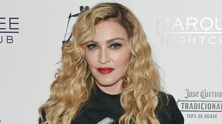 Madonna poserer for kameraer