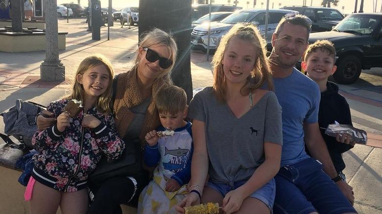Christina Haack og Ant Anstead med barna sine