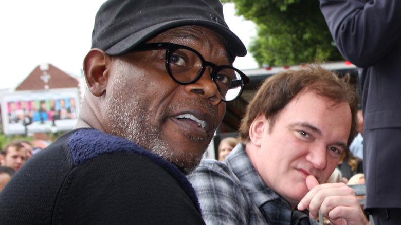 Samuel L. Jackson og Quentin Tarantino snakker