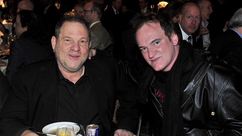 Harvey Weinstein, Quentin Tarantino, begge sittende